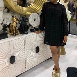 HM Black Plaid Dress